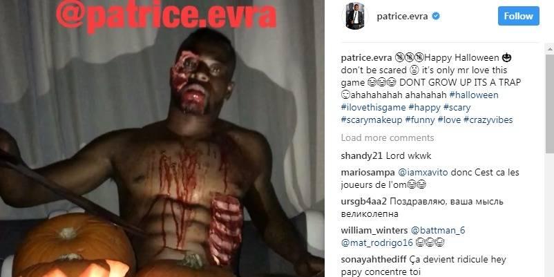 Pour Halloween, Patrice Evra pète un plomb (VIDEO)