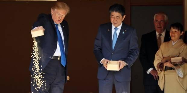 Quand Trump fait parler de lui au Japon pour sa manière de nourrir les carpes - La DH