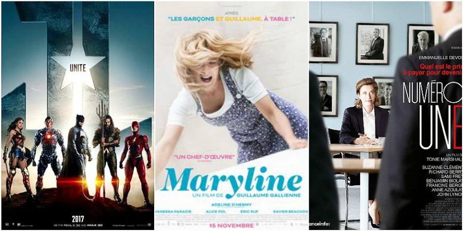 Sorties ciné de la semaine: Maryline, Numéro Une et Justice League