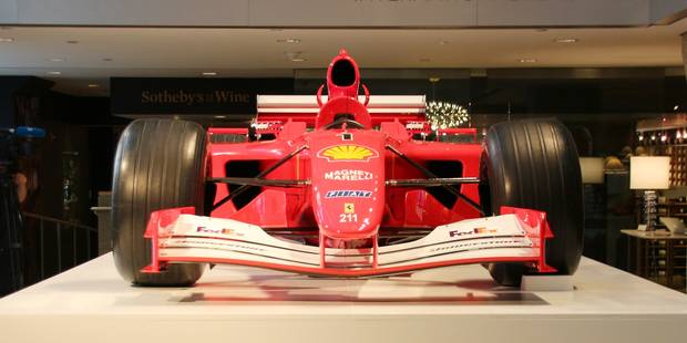 Une Formule 1 de Schumacher adjugée pour 7,5 millions de dollars - La DH