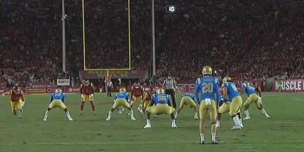 Un joueur de foot US fait semblant de rattraper le ballon (VIDEO) - La DH
