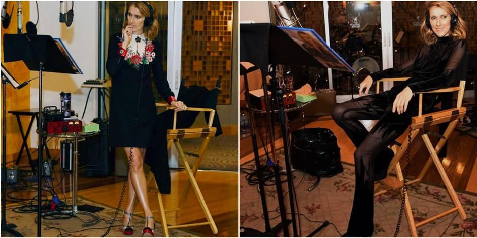 Céline Dion stylée jusqu'au studio