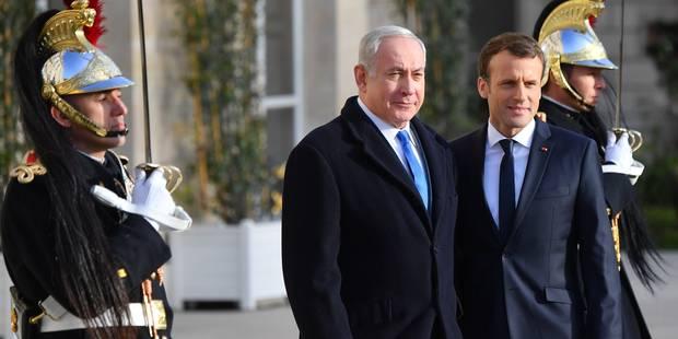 """Statut de Jérusalem: Macron appelle Netanyahu à """"des gestes courageux envers les Palestiniens"""" - La DH"""