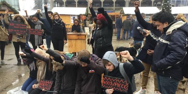 Louvain-la-Neuve : une action de sensibilisation contre l'esclavage sur le marché de Noël (Vidéo) - La DH