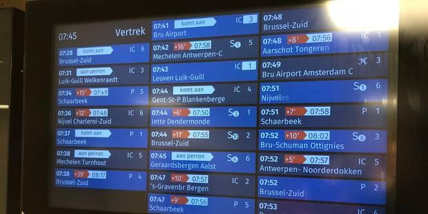 """Conditions météo et problèmes techniques: """"Les usagers de la SNCB sont à cran"""" - La DH"""