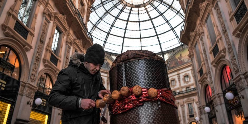 Milan fête Noël avec le plus grand panettone du monde