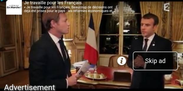 L'interview de Macron par Laurent Delahousse, récupérée comme publicité par l'équipe du président - La DH