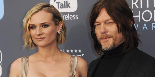 Diane Kruger et Norman Reedus complices lors d'une rare apparition ensemble sur le tapis rouge - La DH