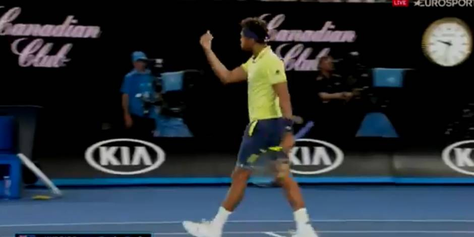 Open d'Australie: Tsonga menace un supporter ! (VIDEO)