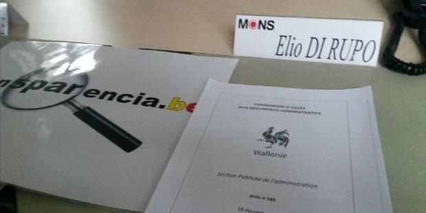 Mons: Transparencia force l'entrée du cabinet d'Elio Di Rupo - La DH