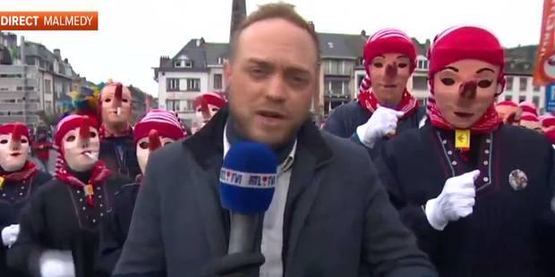Un journaliste fait le buzz grâce à un reportage au carnaval de Malmedy - La DH