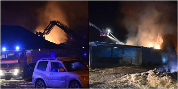Un second hangar en feu à Lautenne - La DH