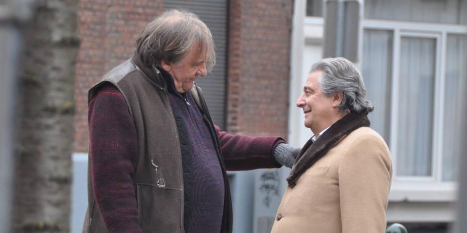 Gérard Depardieu et Christian Clavier tournent depuis huit jours dans un petit quartier calme d'Etterbeek
