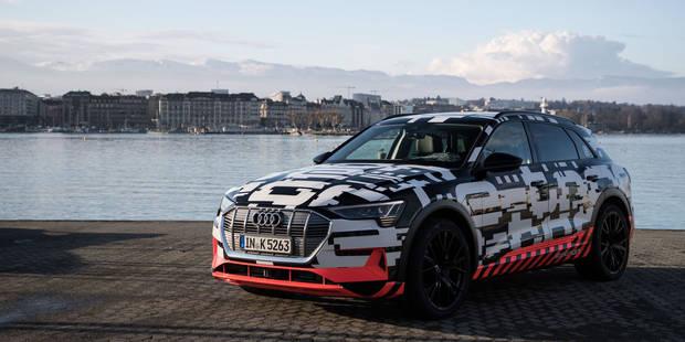 L'Audi électrique, construite à Bruxelles, tient la vedette à Genève! (VIDÉO) - La DH