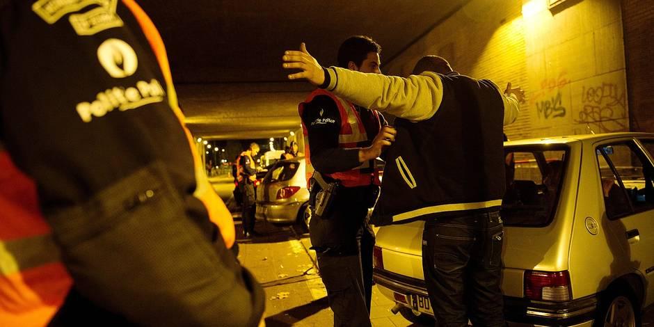 La police de Bruxelles Nord lance une opération en vue de sécuriser la voie publique dans le quartier délimité par les rues Aerschot et Brabant. Criminalité, arrestation, gang, insécurité, contrôle de police.