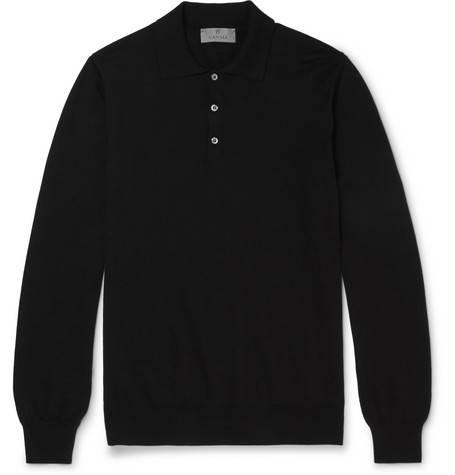 Canali, Cotton Polo Shirt,     160 euros.
