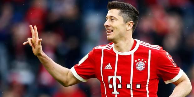 Avec un nouveau triplé, Lewandowski inscrit son nom au panthéon du Bayern Munich - La DH