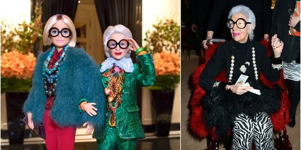 Iris Apfel, mannequin presque centenaire, a sa Barbie - La DH