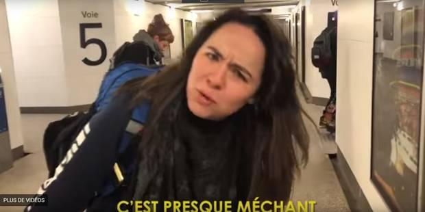 Bloquée par la grève SNCF, une Américaine improvise une chanson... et un clip ! (VIDEO) - La DH