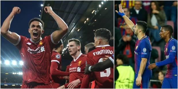 C1: Une demi-heure de feu de Liverpool éteint City (3-0), la Roma résiste mais craque à Barcelone (4-1) - La DH